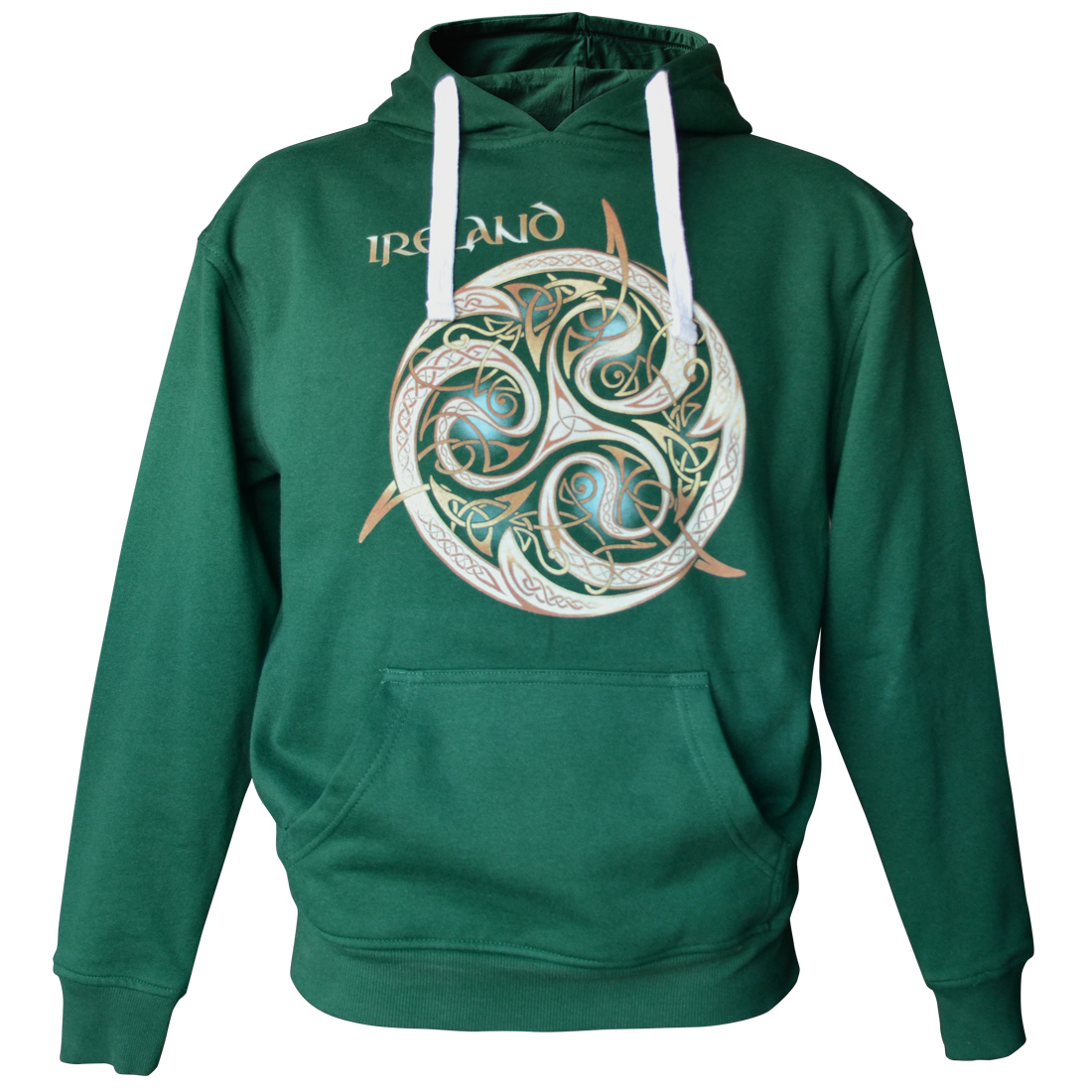 Traditional Craft Bottle Green Celtic Knot Hoodie