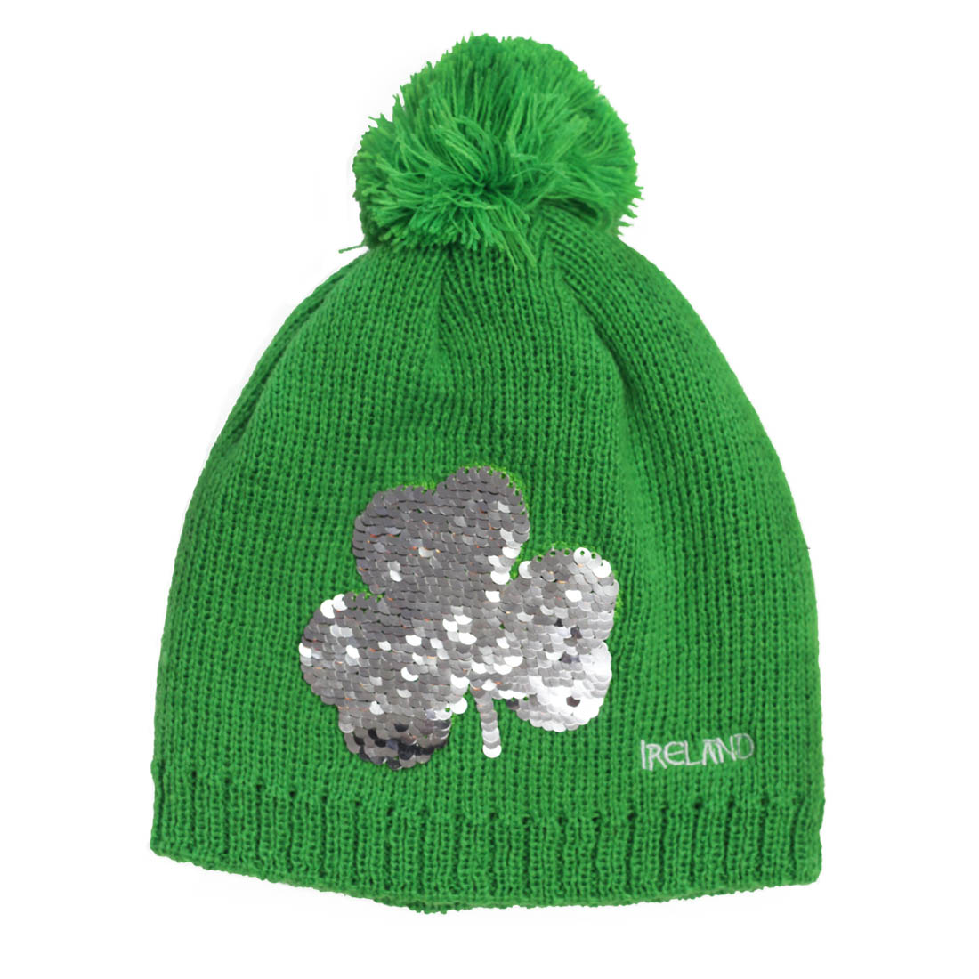 d3be9144191 Emerald Shamrock 2 Way Sequin Knit Hat