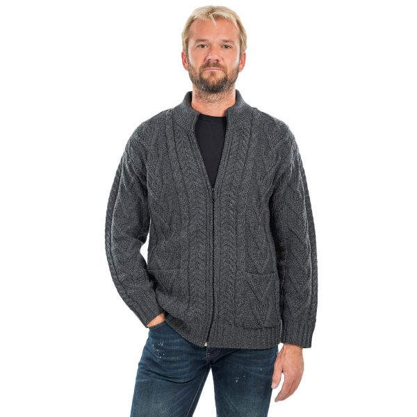 Men's Cardigan with Zipper Design on DublinGiftCompany.com