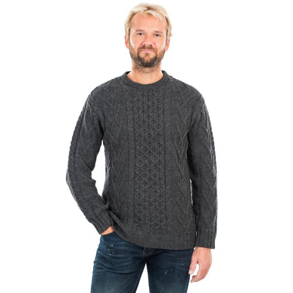 Merino Wool Aran Sweater for Men on DublinGiftCompany.com