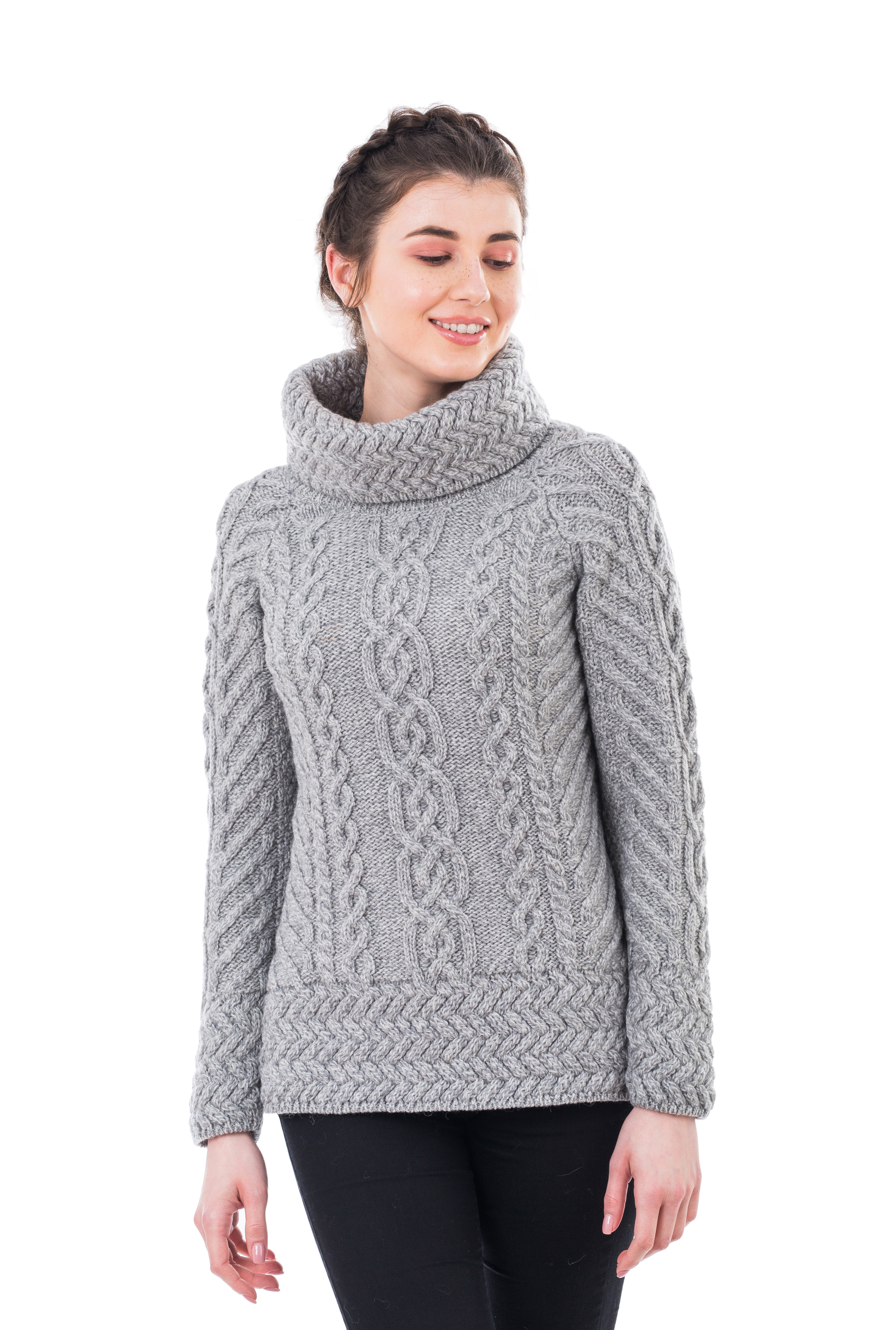 bed1d33e52b Ladies Cowl Neck Sweater - Dublin Gift Company