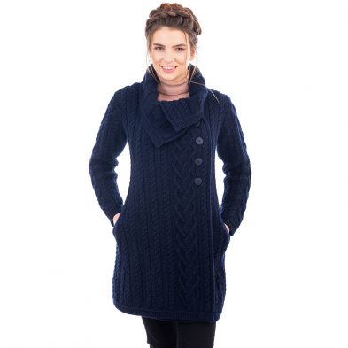 Ladies Classic Aran Cable Coat