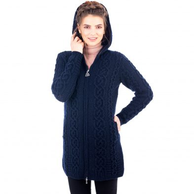 Ladies Celtic Aran Jacket on DublinGiftCompany.com