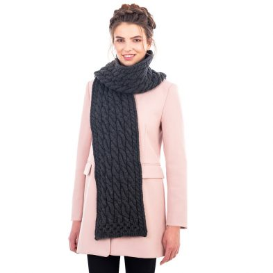 Ladies Cable Knit Scarf on DublinGiftCompany.com