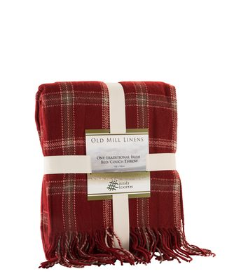 Samuel Lamont acrylic red checked throw