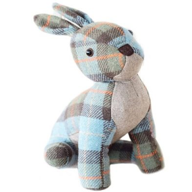 Tweed rabbit door stopper DublinGiftCompany.com