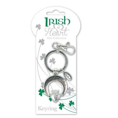 Claddagh Irish at Heart Irish Keyring DublinGiftCompany.com