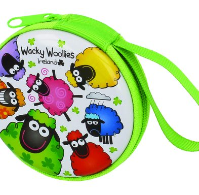 Wacky Woollies Round Coin Purse with Zip DublinGiftCompany.com